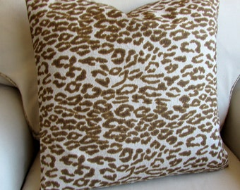 Cheetah pillow cover 18x18 20x20 22x22 24x24 26x26