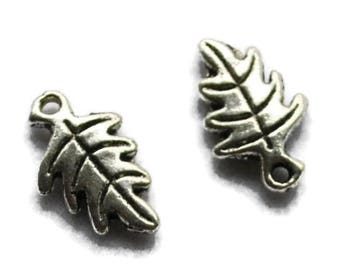 Leaves X 5 silver charms