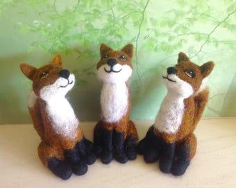 Moongazing fox needle felted kit