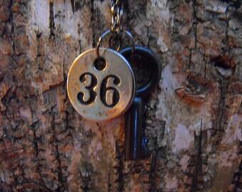Key & Metal Tag Necklace