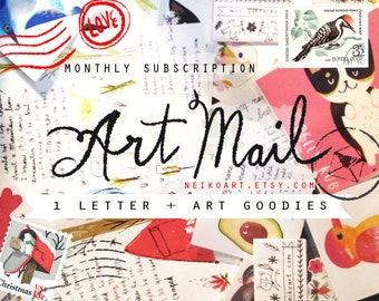 Art snail mail monthly subscription