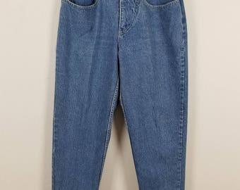 LA GEAR Vintage Mom Tapered light wash high waist Jeans size 13 size 29