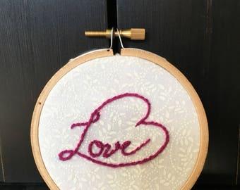 "3"" Embroidery: HeartFull of Love (Purple)"