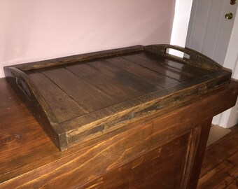 Ottoman Serving Tray, rustic tray, wooden serving tray,