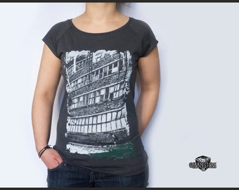"Raglan T-shirt ""abandoned"" fair trade & organic"