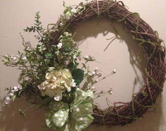 Grapevine springtime wreath