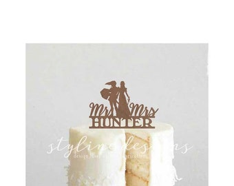 Link and Zelda Inspired Personalized Last Name - Wedding Cake Topper