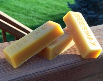 100% Pure & Natural Beeswax Bars | 1 oz Bulk Beeswax (5 Pack)