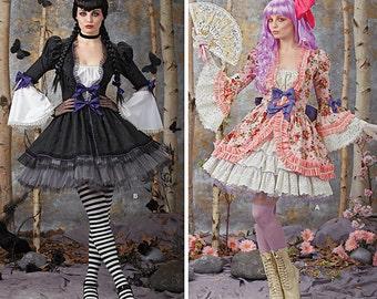 Simplicity Sewing Pattern 1300-Gothic Lolita Dress Size 6-12