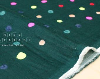 Nani Iro Kokka Japanese Fabric Colorful Pocho - D - 50cm