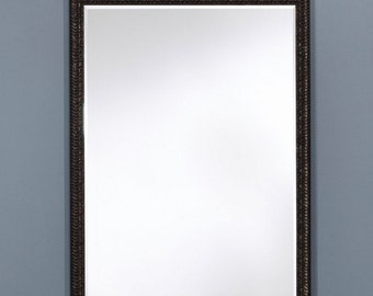 Miroir POTSDAM BLACK SMALL Traditionnel Classique Rectangulaire Noir 56x75 cm