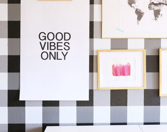 Good Vibes Only oversized wall art gallery poster artwork