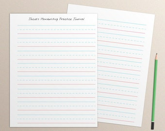 Handwriting Practice Journal Pages, handwriting practice journal paper pack