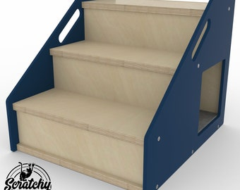 Boxy 3Step, Mobility ramp, Mobility stairs, Dog steps, Dog stairs, Pet bed, Pet stairs, Cat steps, Cat stairs, Pet gift, Steps for small dog