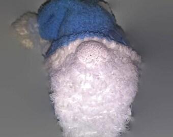 Mini Blue Sock Gnome / House Gnome / Tomte / Nisse / Tomtenisse / Tonttu / Travelling Gnome / Garden Hermit / Kitsch Gnome