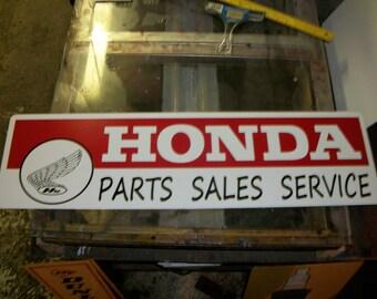 Honda Parts Sales service Metal sign 30x10 inch