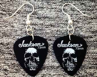 Jackson Sick Skulls Guitar Pick Earrings