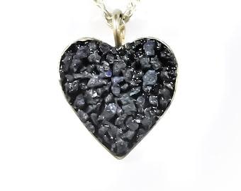 Heart Blue Azurite necklace