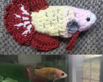 Customized  Betta Fish Plushie