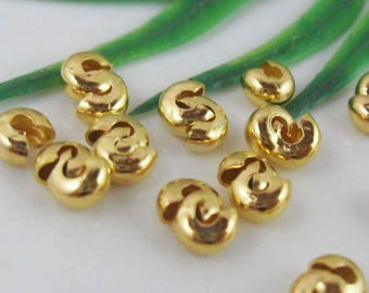 10 NŒUDS GOLD WRAP. FOR NECKLACE, JEWELRY... 5 X 3 MM.