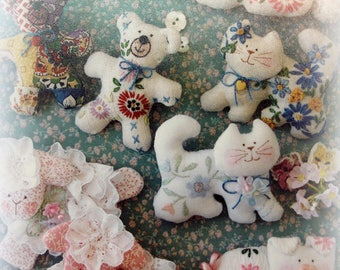 vintage sweet pets pattern pattern for miniature animals made from vintage linens