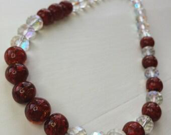 Golden Glitter Necklace - 22 inch statement piece