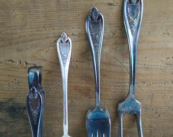 Old Colony Silverplate Serving Fork Selection