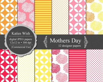 Mothers Day Digital Scrapbooking Kit Instant Download for Commercial Use