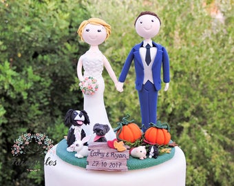 Pumpkins Wedding Cake Topper
