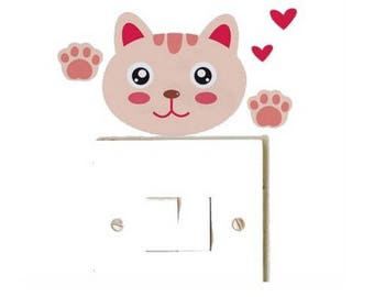 1 cat Sticker for switch or outlet