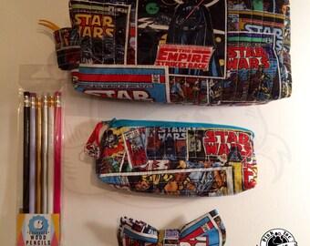 StarWars Retro Comics Pencil Case // Zippered Bag // Square Bag // Toiletry Bag // Dop Kit