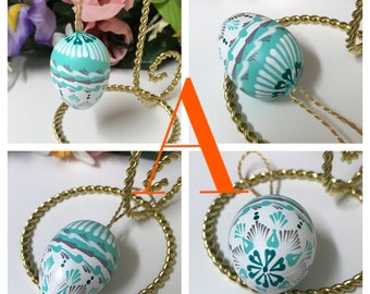 Hand painted mini Easter eggs pysanky ornaments