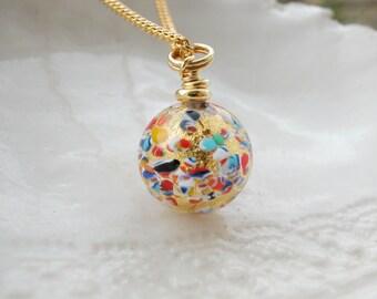 Murano Millefiori Ball Necklace