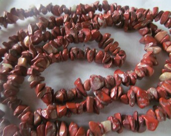 Ravishing Red Jasper Gemstone Necklace Bohemian Jewelry Red Jasper necklace Long Beaded Necklace Natural Gemstones