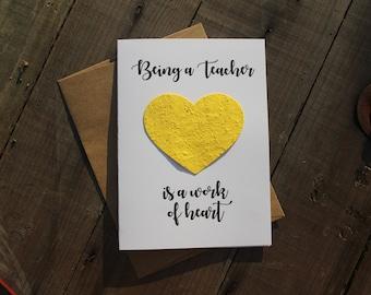 Being a Teacher is a work of Heart - Heart Seed Paper