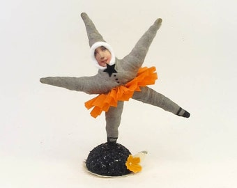 Spun Cotton Vintage Style Halloween Dancing Star Figure (MADE TO ORDER)