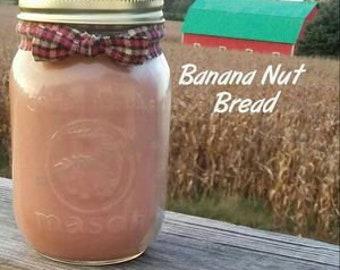 Banana Nut Bread Soy Candle in 16 oz Jar