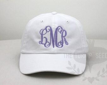 Ladies' Monogram Baseball Cap - Custom Personalized Embroidered Hat