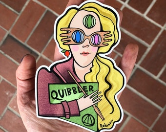 Luna Lovegood vinyl sticker