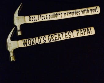 personalized hammers, hammer gift, gift for dad, gift for grandpa, gift for uncle