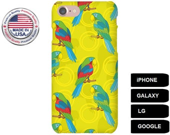 Parrot Phone Case, Phone Case Parrot, Parrot iPhone Case, Parrot Galaxy Case, Parrot Google Pixel Case, Galaxy A3 Case, Galaxy S7 Edge Case