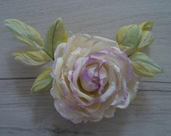 Brooch,Hair accessory, Rose, Flower, silk flower, silk flower brooch