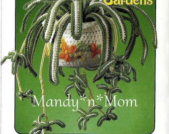 Hanging Gardens - 87D01 - Spider Plant – Out of Print - PDF - Crochet Pattern
