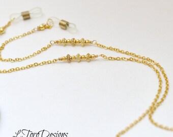 Gold Eyeglass Chain, Gold Glasses Chain, Gold Glasses Holder, Sunglasses Chain, Gold glasses Necklace, EyeGlasses Necklace,Eye Wear