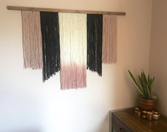 Bold and Blush Dipdyed Wallhanging