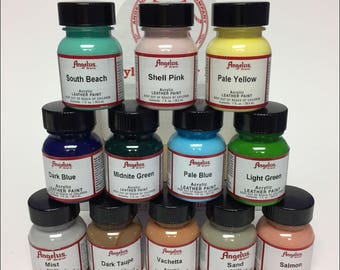 Ocean View - Angelus 12 Piece Acrylic Paint Set - Leather Paint - Sneaker Paint - Shoe Paint