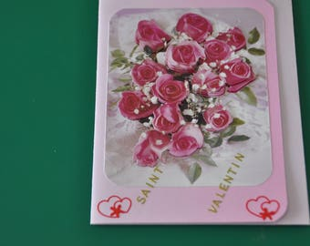 Card Valentine's day Bouquet of Roses