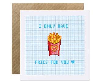 Fries Junk Food - Valentines Day Card Love Romance Card