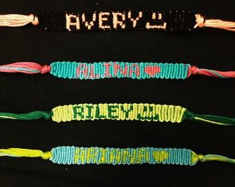 Custom Name Friendship Bracelets