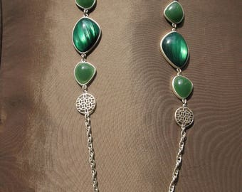 Green Necklace Long Necklaces